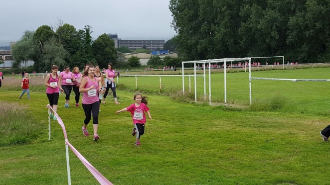 Mollie and I running the Race for Life
